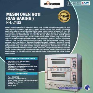 Jual Mesin Oven Roti Gas 4 Loyang (MKS-RS24) di Surabaya