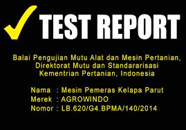 test-report-maksindomedan pemeras santan alatmesin