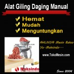Jual Alat Giling Daging Manual (Iron) di Surabaya