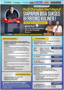 Workshop Jadi Juragan Dapur (Bisnis Kuliner) 5 Mei 2016 alatmesin