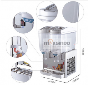 Mesin Juice Dispenser 2 Tabung (17 Liter) - DSP17x2 2 alatmesin