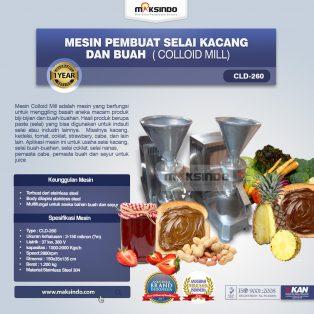 Jual Mesin Pembuat Selai Kacang dan Buah (Colloid Mill) di Surabaya
