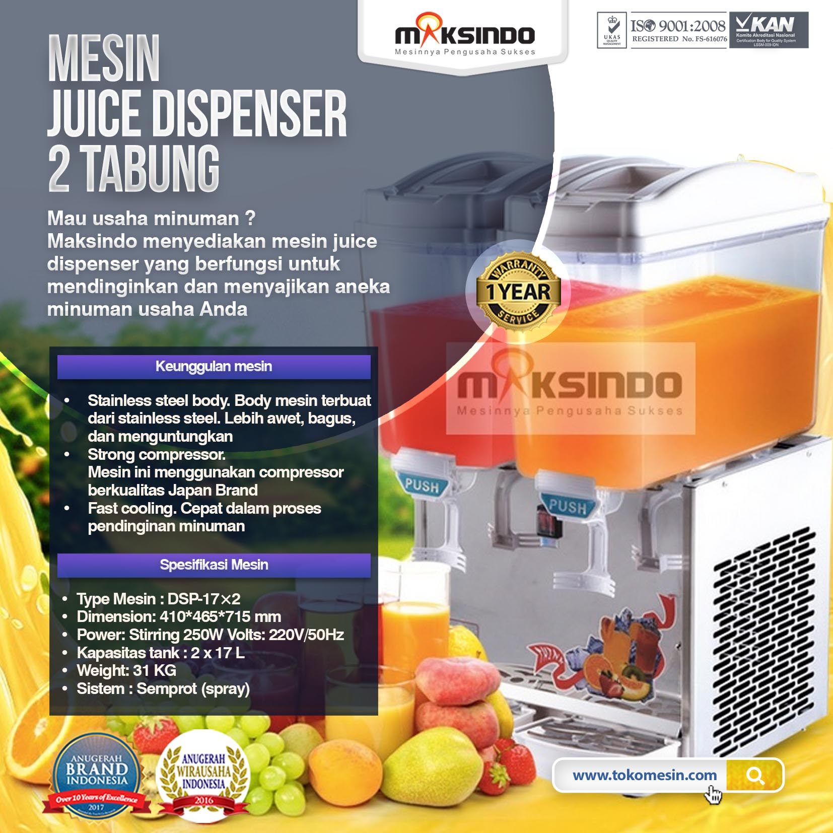 mesin DISPENSER 2 TABUNG 1