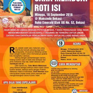 Training Usaha Roti Isi di Bekasi, 18 September 2016