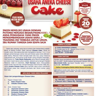 Training Usaha Kue, 22 Januari 2017
