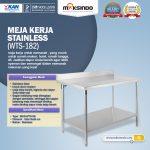 Jual Meja Kerja Stainless (WTS-182) di Surabaya