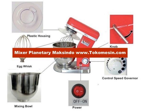 Mesin Mixer Planetary 5 Liter (MPL-5) 2