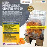 Jual Mesin Pemeras Jeruk Otomatis (ORG-20) di Surabaya