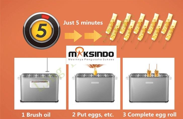 Mesin Pembuat Egg Roll (Listrik) 3