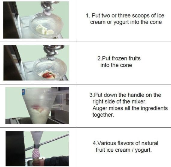 Mesin Blender Es Krim Yogurt Multifungsi 3