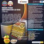 Jual Mesin Food Dehydrator 10 Rak (FDH10) di Surabaya