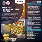 Jual Mesin Food Dehydrator 15 Rak (FDH15) di Surabaya