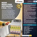 Jual Mesin Food Dehydrator 6 Rak (FDH6) di Surabaya