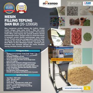 Jual Mesin Filling Tepung dan Biji (20-1200gr) di Surabaya