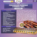 Jual Pemanggang BBQ Stainless (gas) 6 Tungku di Surabaya