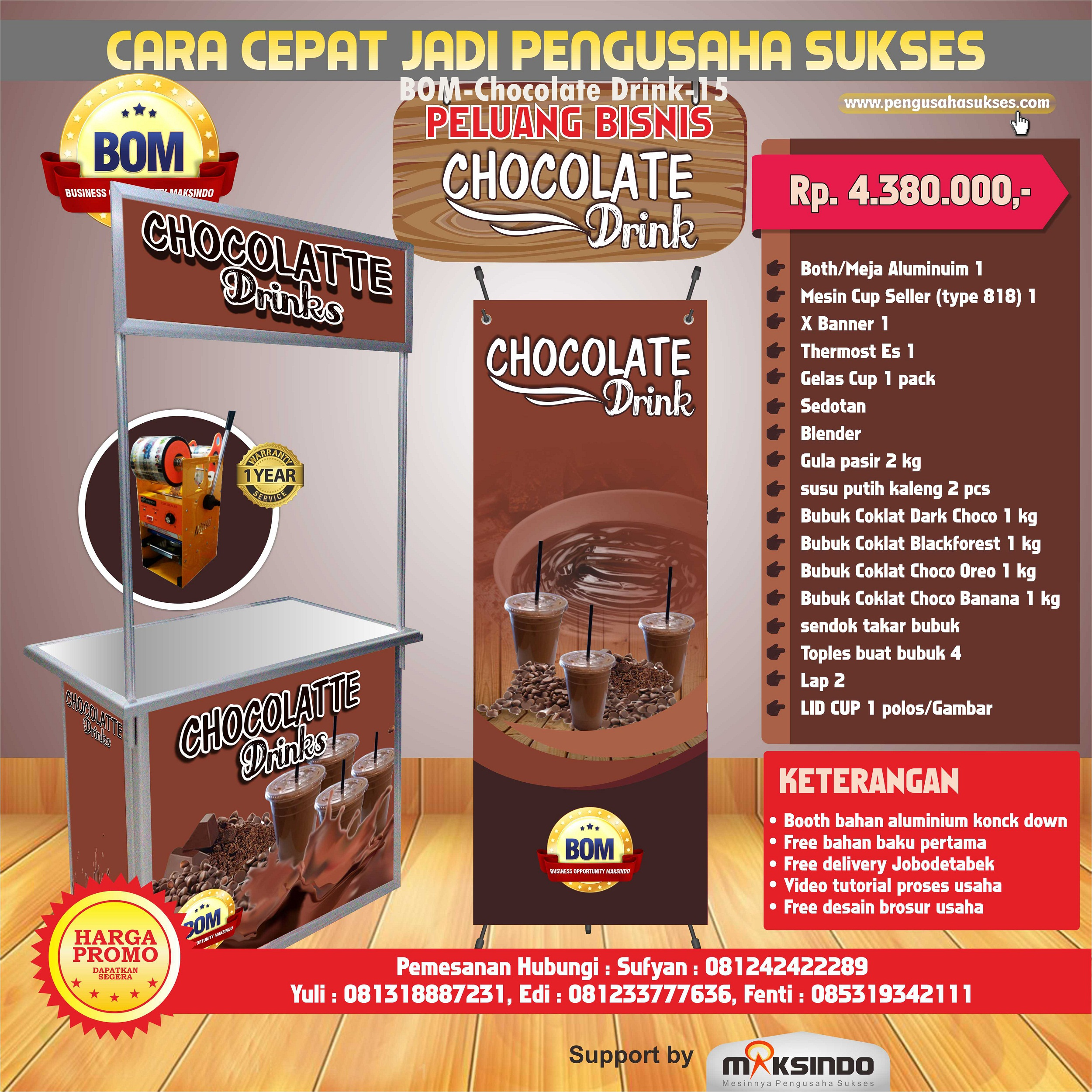 Design x banner makanan - Chocolate Drink Jpg