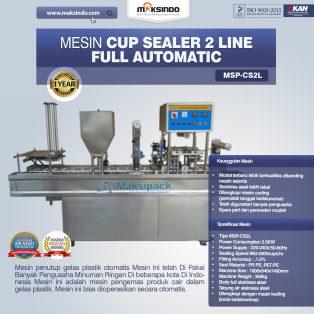 Jual Mesin Cup Sealer Otomatis 2 line dan 4 line di Surabaya