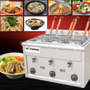 Jual Mesin Pemasak Mie 6 Lubang Gas MKS-PC6 di Surabaya