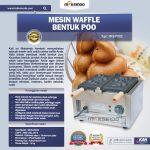Jual Mesin Waffle Bentuk Poo (MKS-POO2) di Surabaya