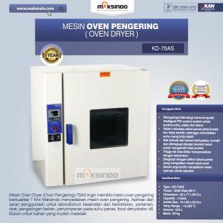 Jual Mesin Oven Pengering (Oven Dryer)-75AS di Surabaya