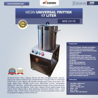 Jual Universal Fritter 17 Liter (MKS-UV17A) di Surabaya
