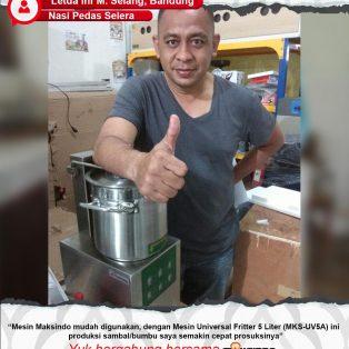 Nasi Pedas Selera : Produksi Bumbu Sambal Semakin Mudah Bersama Mesin Universal Fritter Maksindo
