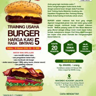 Training Usaha Burger, 10 Maret 2018
