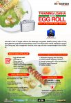 Training Usaha Varian Egg Roll, 30 April 2018