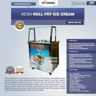 Jual Mesin Roll Fry Ice Cream (RIC36) di Surabaya