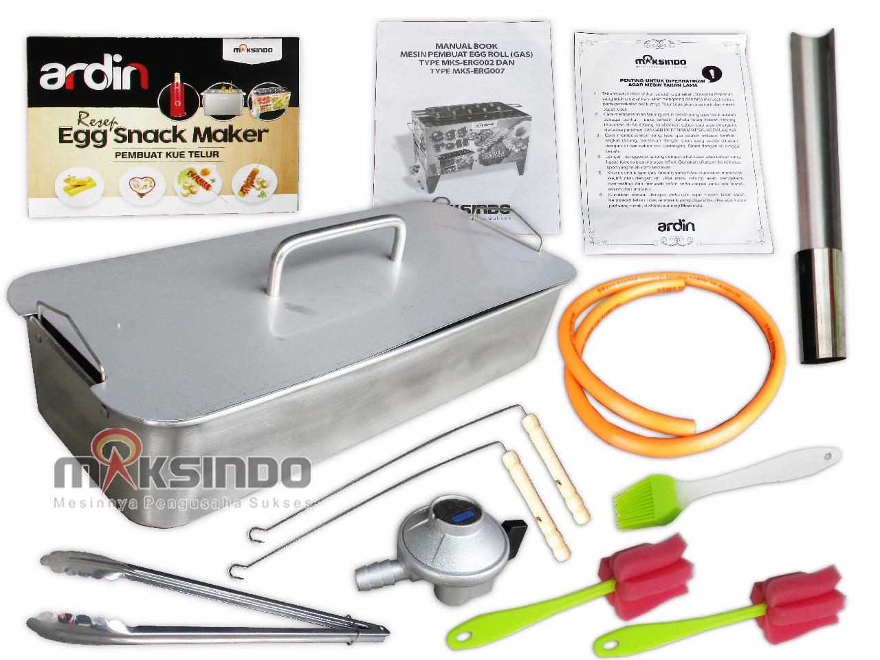 Mesin Egg Roll Gas 2in1 Plus Fryer Erg007 Maksindo Toko Alat Sosis Telur 4 Lubang Sostel Lobang