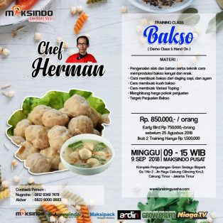 Training Usha Bakso, Minggu, 9 September 2018