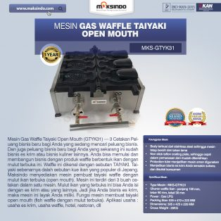 Jual Mesin Gas Waffle Taiyaki Open Mouth (GTYK31) di Surabaya
