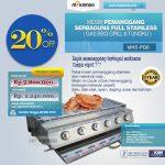Jual Pemanggang Serbaguna – Gas BBQ Grill 6 Tungku di Surabaya
