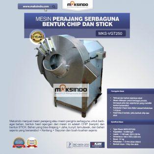 Jual Mesin Perajang Serbaguna Bentuk Chip dan Stick – MKS-VGT250 di Surabaya