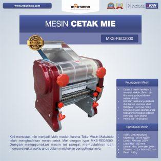 Jual Mesin Cetak Mie MKS-RED2000 di Surabaya