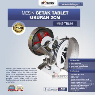 Jual Mesin Cetak Tablet Ukuran 2cm MKS-TBL66 di Surabaya