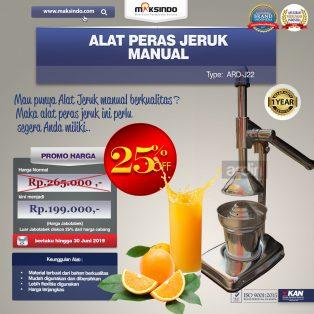 Jual Alat Pemeras Jeruk Manual ARD-J22 Di Surabaya