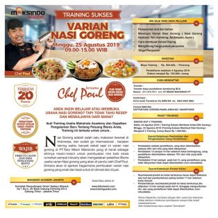 Training Usaha Varian Nasi Goreng, Minggu, 25 Agustus 2019