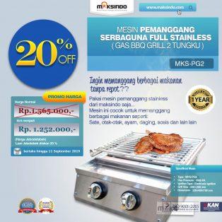 Pemanggang Serbaguna – Gas BBQ Grill 2 Tungku Full Stainless