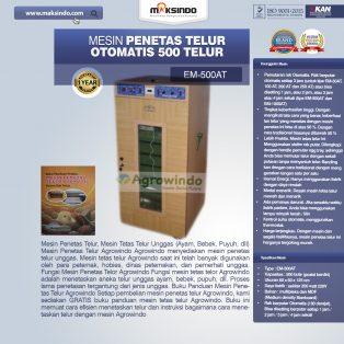 Jual Mesin Penetas Telur Otomatis Kapasitas 500 Telur (EM-500AT) di Surabaya