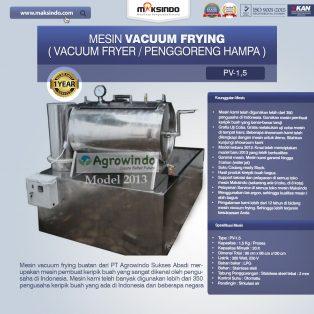 Jual Mesin Vacuum Frying Kapasitas 1.5 kg di Surabaya
