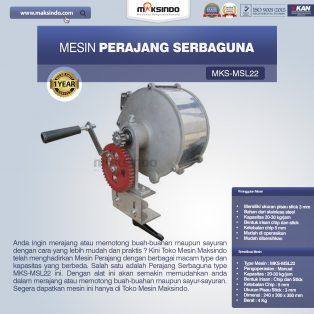 Jual Perajang Serbaguna MKS-MSL22 di Surabaya