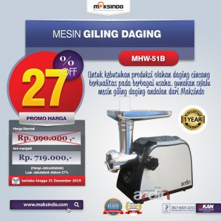Jual Mesin Giling Daging (Meat Grinder) MHW-G51B di Surabaya