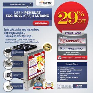 Mesin Pembuat Egg Roll (Gas) 4 Lubang MKS-ERG444 di Surabaya