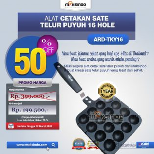 Alat Cetakan Sate Telur Puyuh 16 Hole Ardin TYK-16