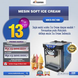 Jual Mesin Soft Ice Cream ISC-188 di Surabaya