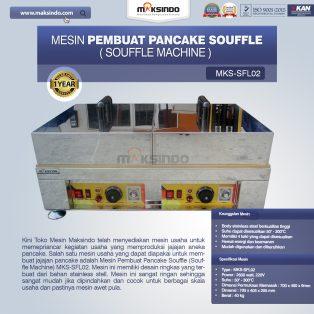 Jual Mesin Pembuat Pancake Souffle (Souffle Machine) MKS-SFL02 di Surabaya