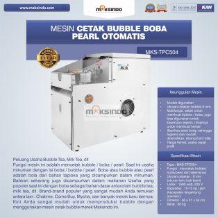 Jual Mesin Cetak Bubble Boba Pearl Otomatis di Surabaya
