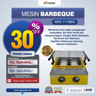 Jual Mesin Pemanggang Sate – BBQ 2 Tungku (Gas) di Surabaya