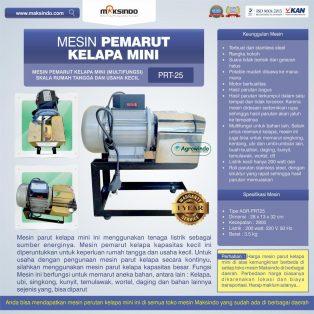 Jual Mesin Parut Kelapa Mini AGR-PRT25 di Surabaya